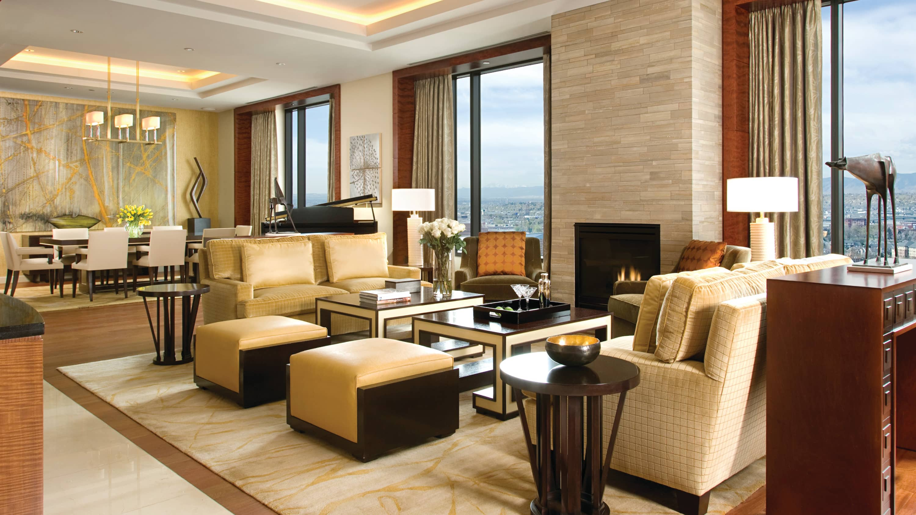 The Presidential Suite at Four Seasons Hotel in Denver