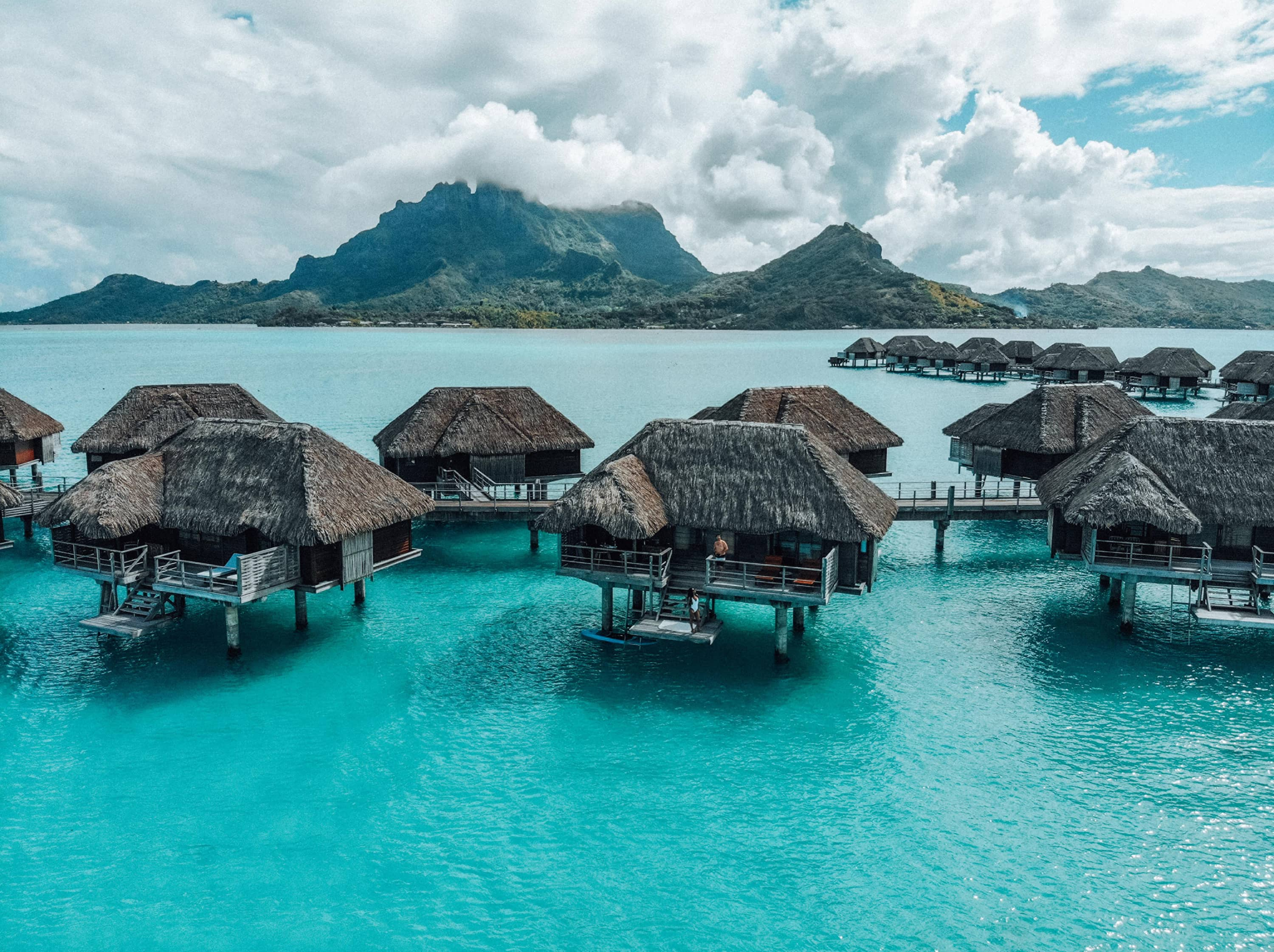 Enjoy a slice of tropical paradise in your overwater bungalow.