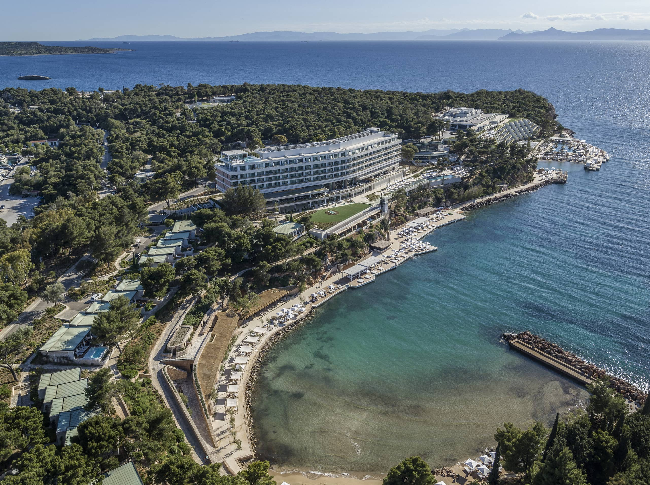 Cruise to the Greek Islands from our iconic hotel.