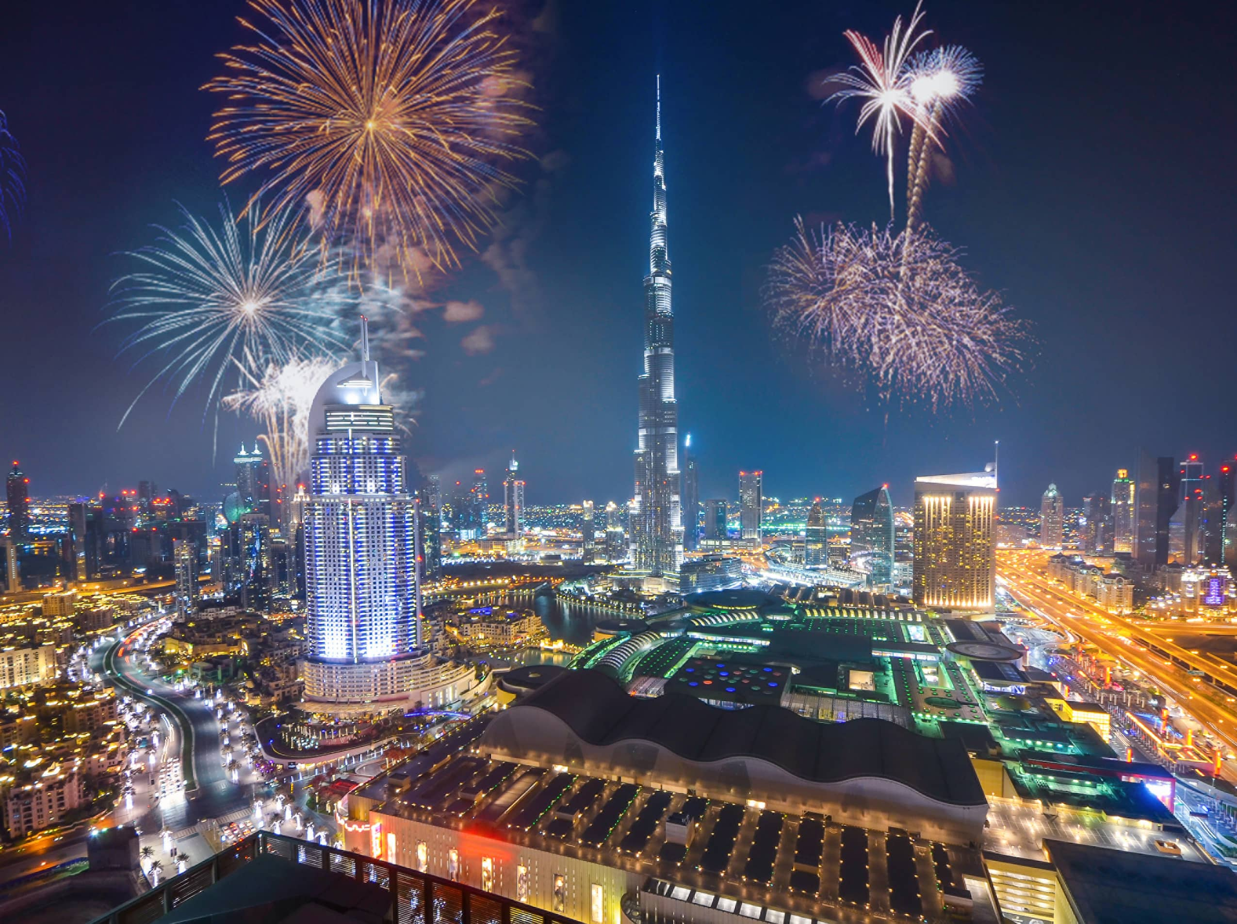 Ring in the new year with fireworks over the Burj Khalifa.