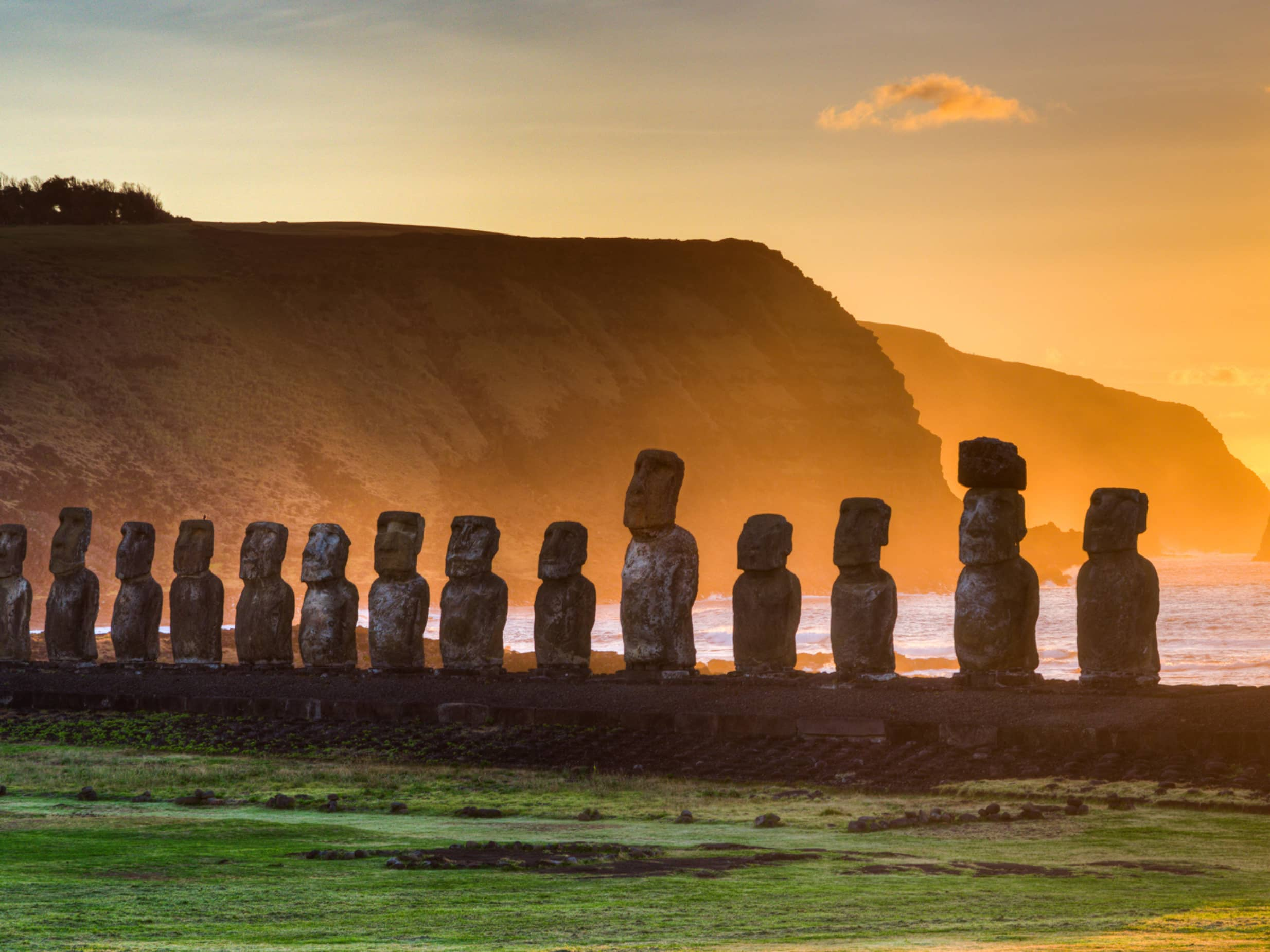 "Watch the Sun Rise Over the ""Moai"""