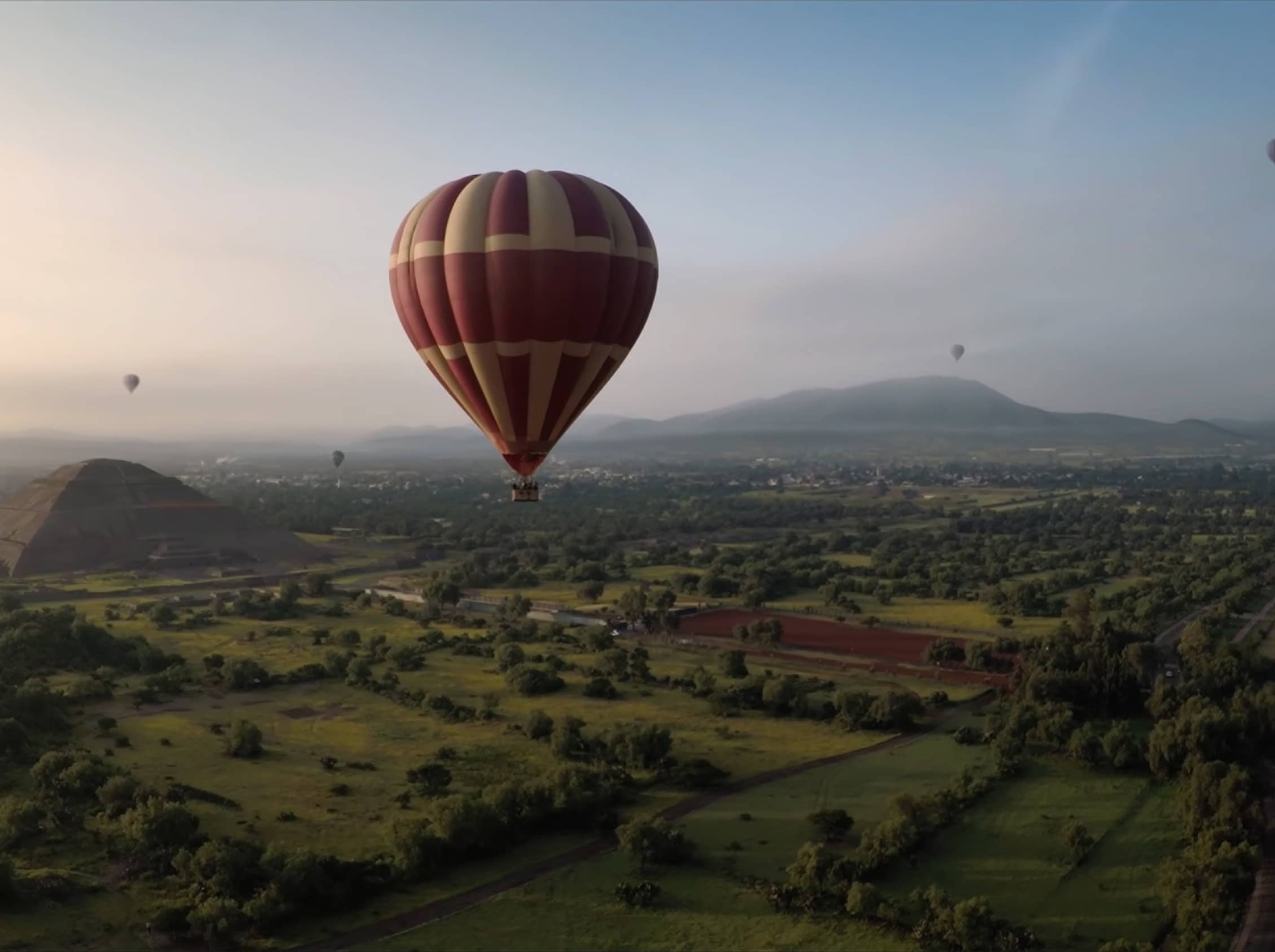 Take a hot-air balloon ride over the ancient city.