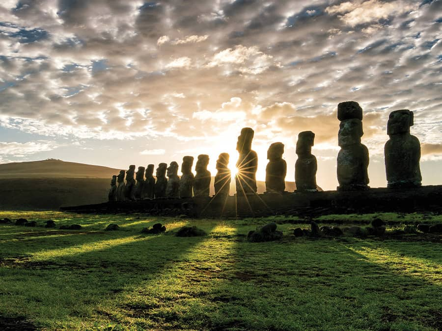 Encounter the mysterious moai of Easter Island