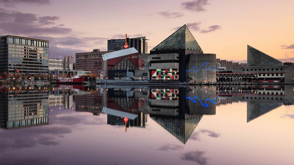 Baltimore S Inner Harbor Is Home To A Number Of The City Attractions Including Four Seasons Hotel