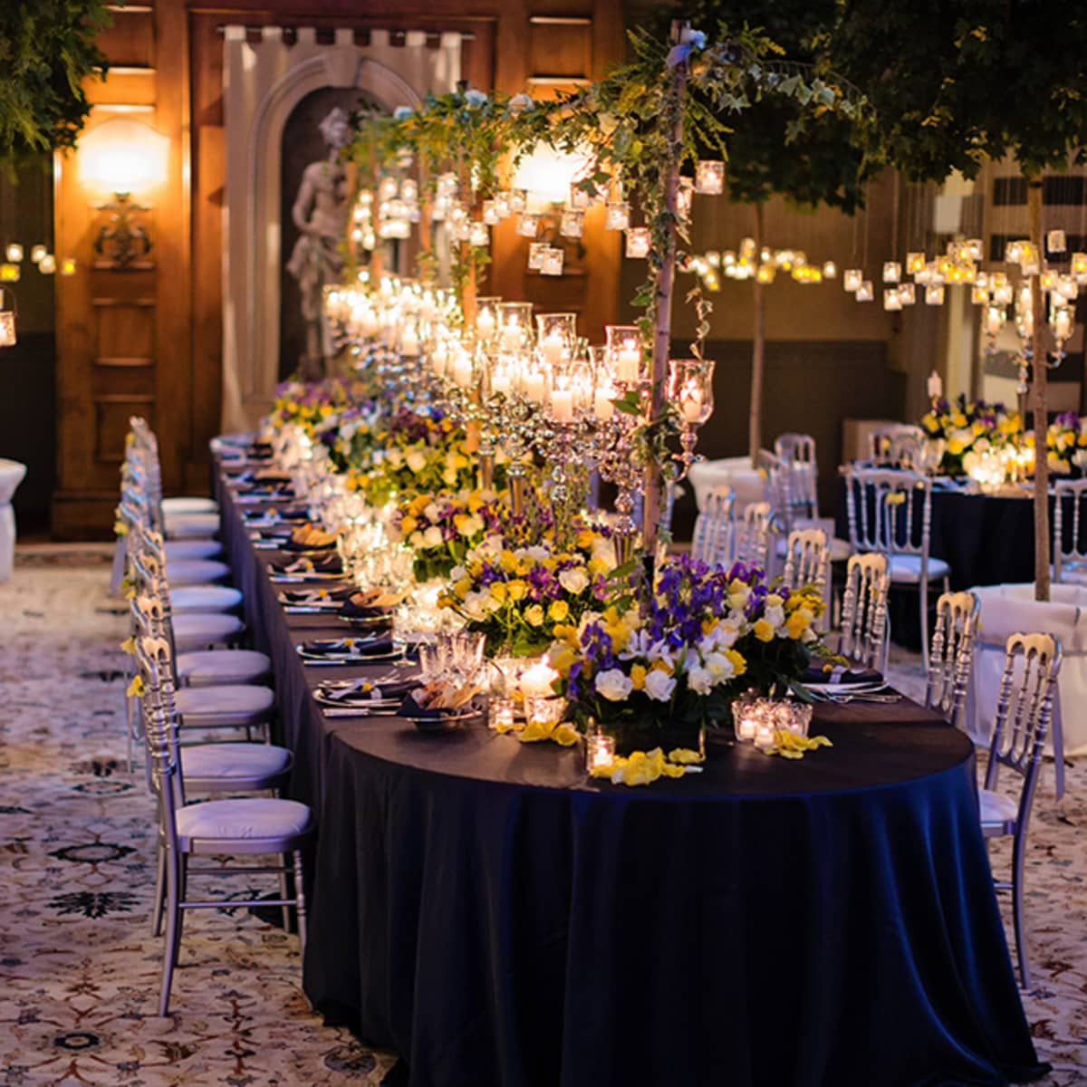 Destination wedding in italy four seasons hotel florence flowers and more than 2000 candles decorate the reception space and its immaculate tables junglespirit Gallery