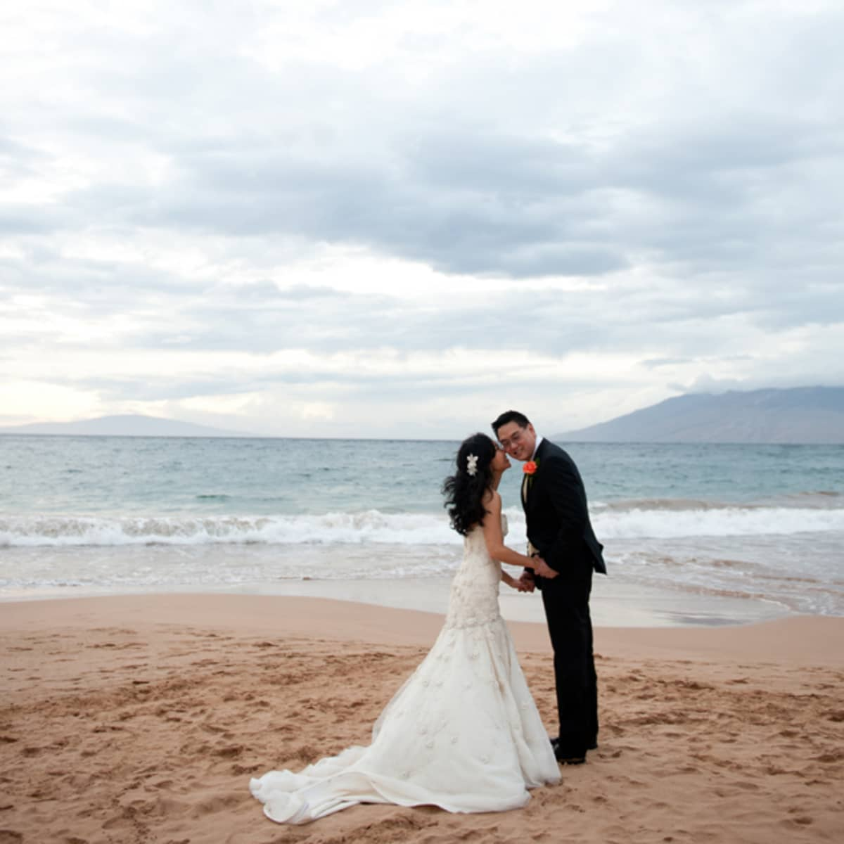 The Beach Serves As Backdrop For Formal Portraits