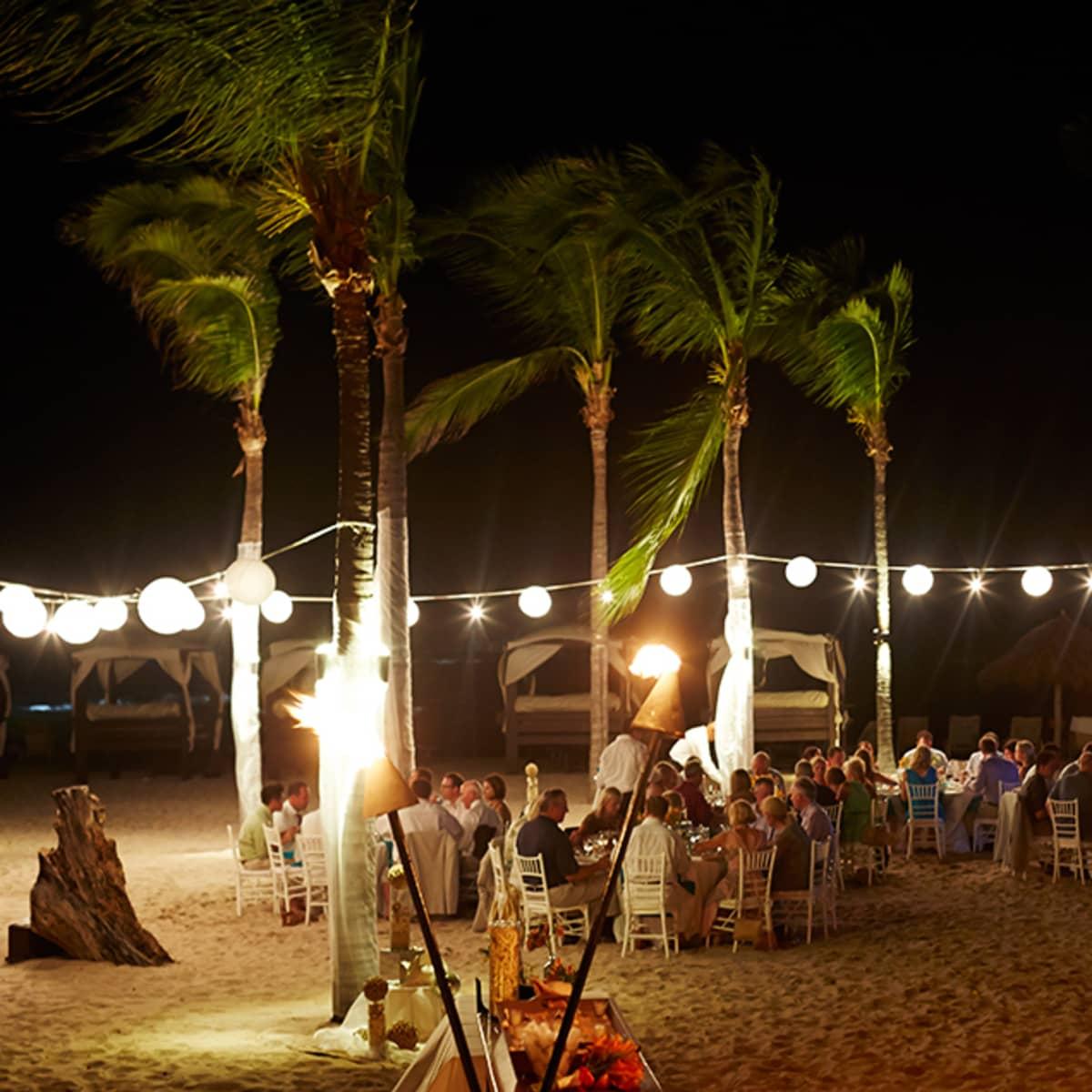 A Comfortable Yet Elegant Reception Is Held On Las Cuevas Beach At Four Seasons Resort Punta