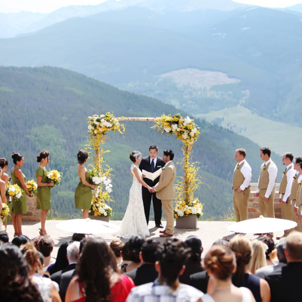 A View Of The Ceremony Atop Vail Mountain