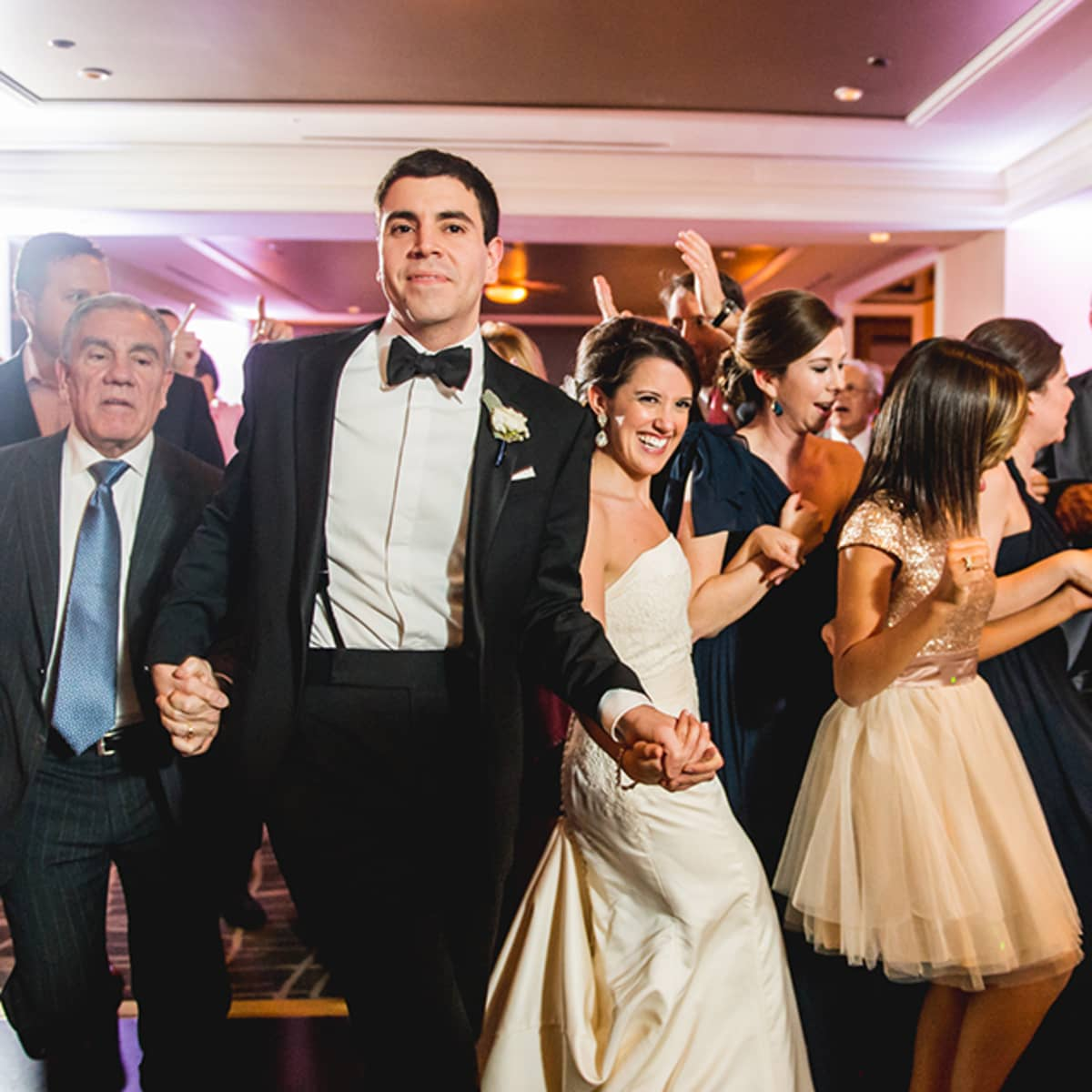 The Newlyweds And Their Guests Dance Hora At Reception