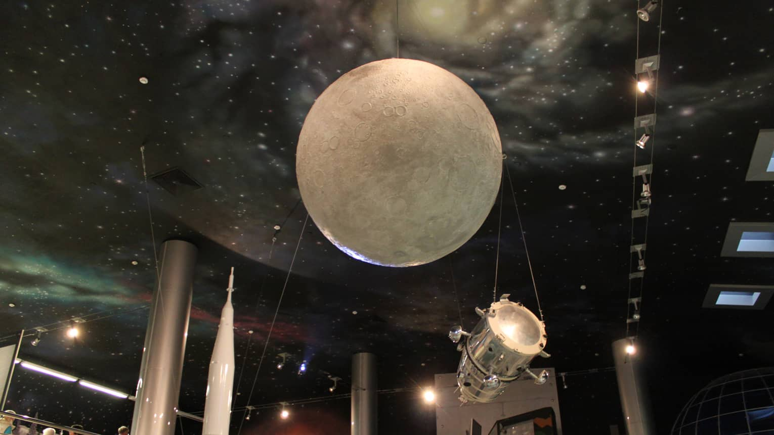 Giant moon installation at the Museum of Cosmonautics