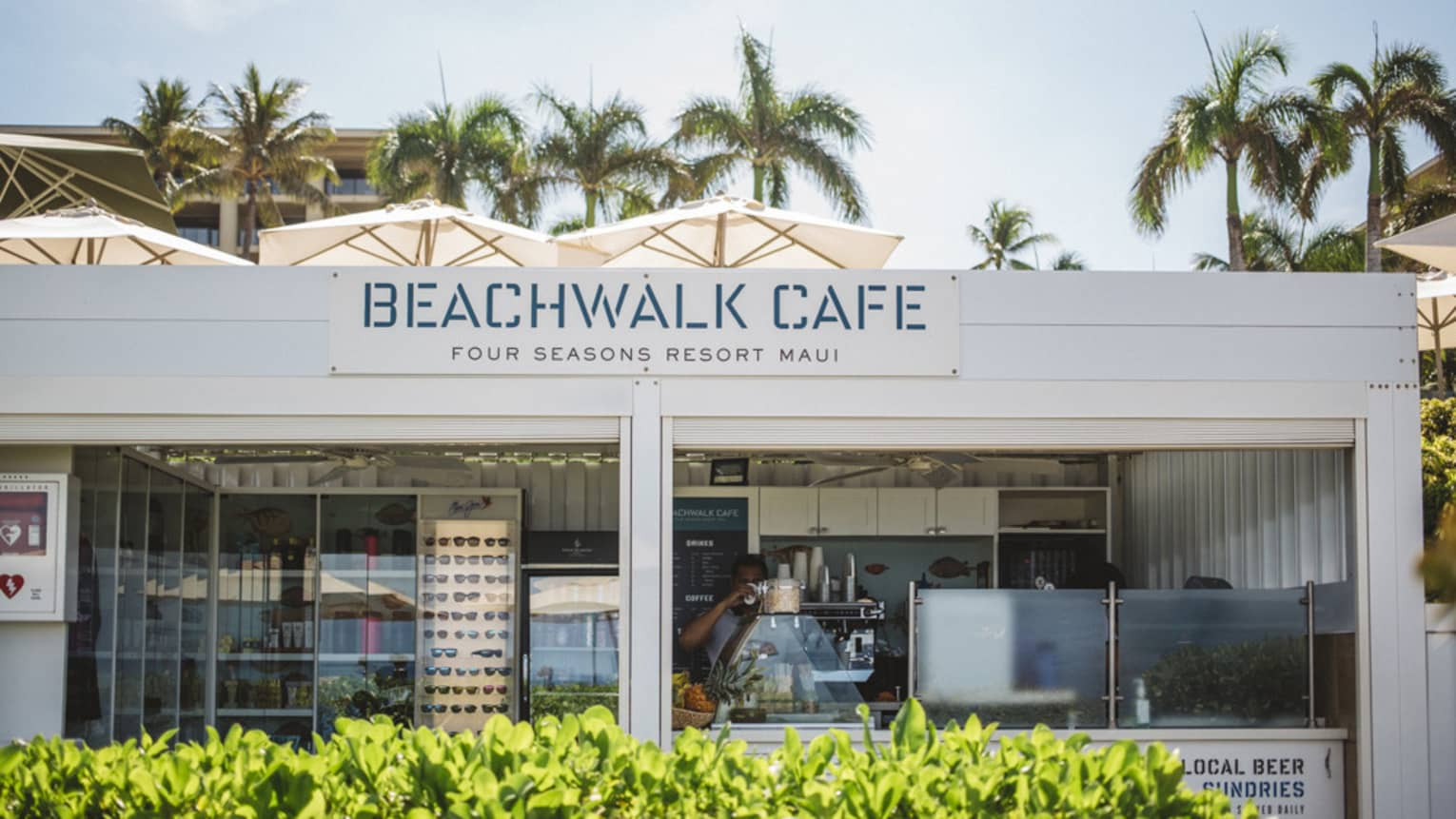 The front of the Beachwalk Cafe in Maui