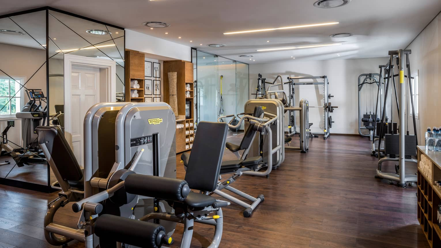 Cardio machines, weight presses in Fitness Centre