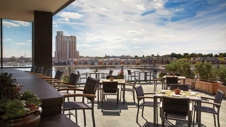 Baltimore Rooftop Pool Bar Splash At Four Seasons Hotel