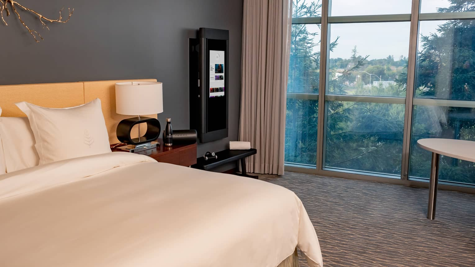 A Tonal technology-equipped guest room