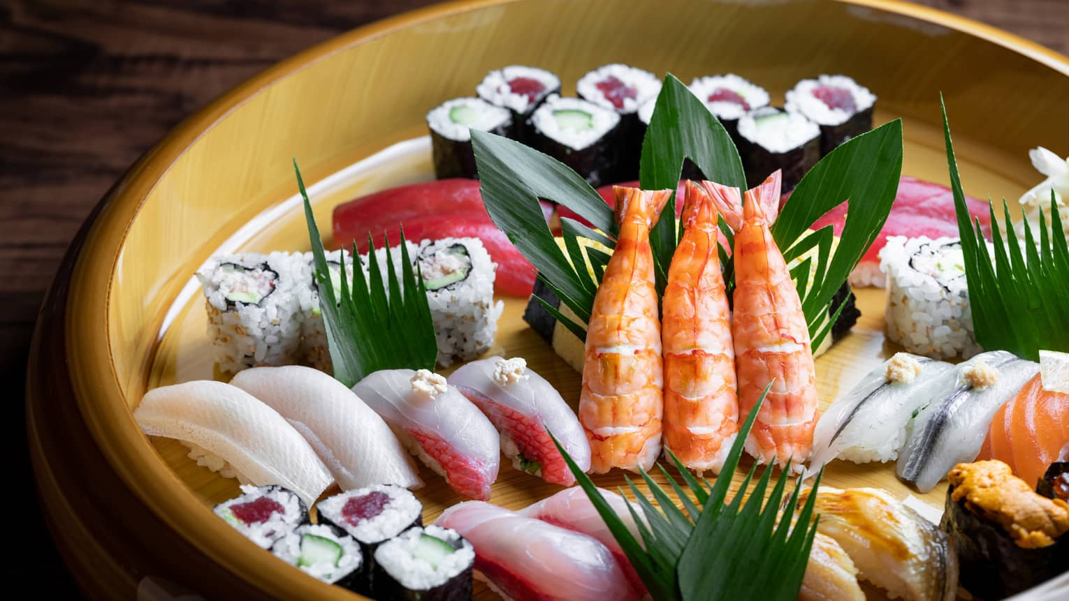 Sushi assortment from Onyx restaurant