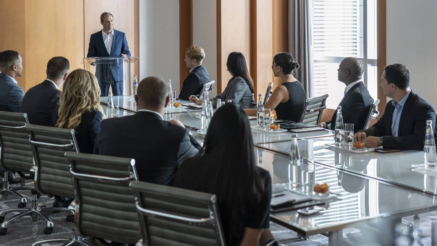 A business meeting in the Bal Harbour Meeting Room