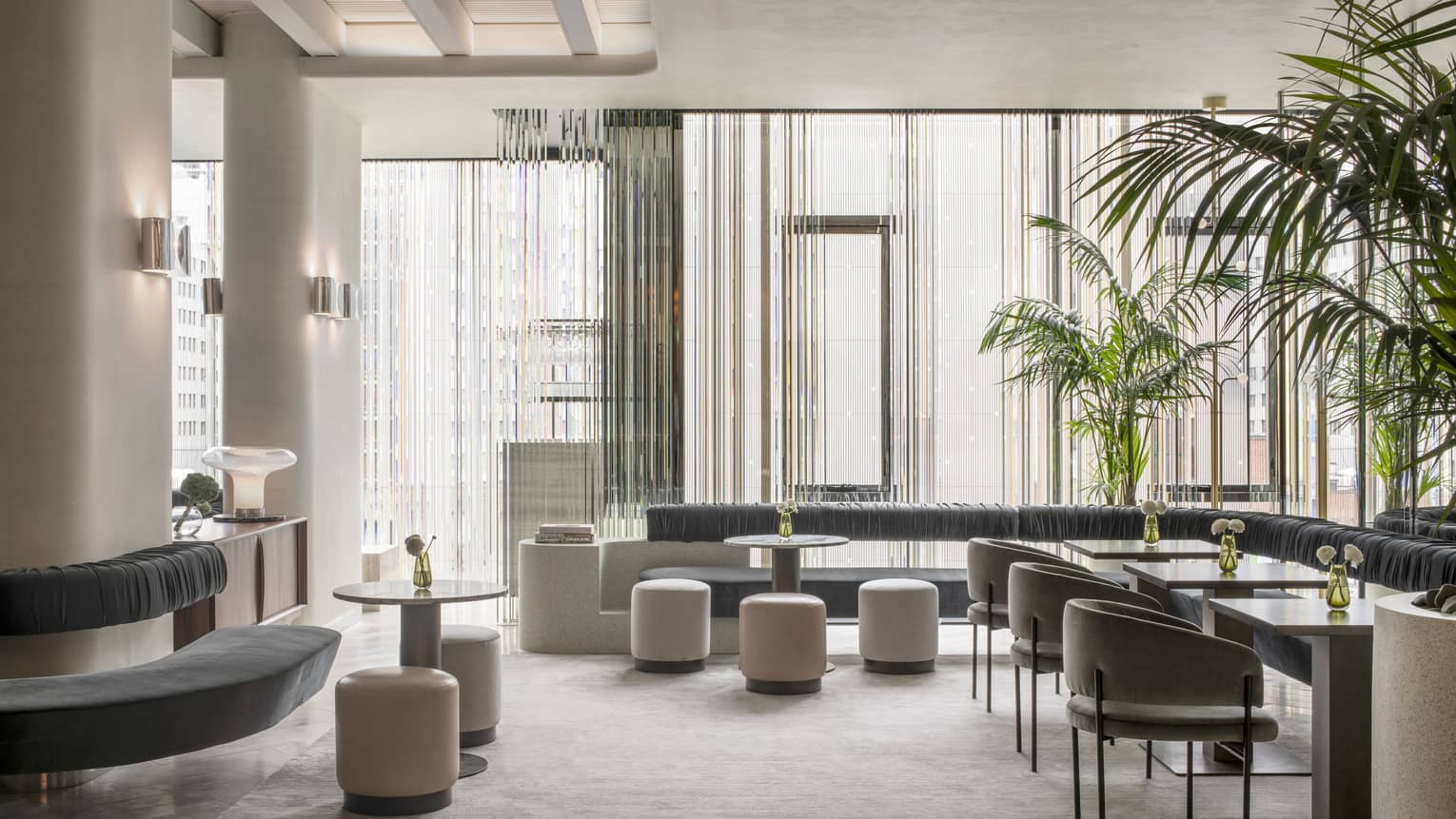 Interior of MARCUS Lounge at Four Seasons Hotel Montreal