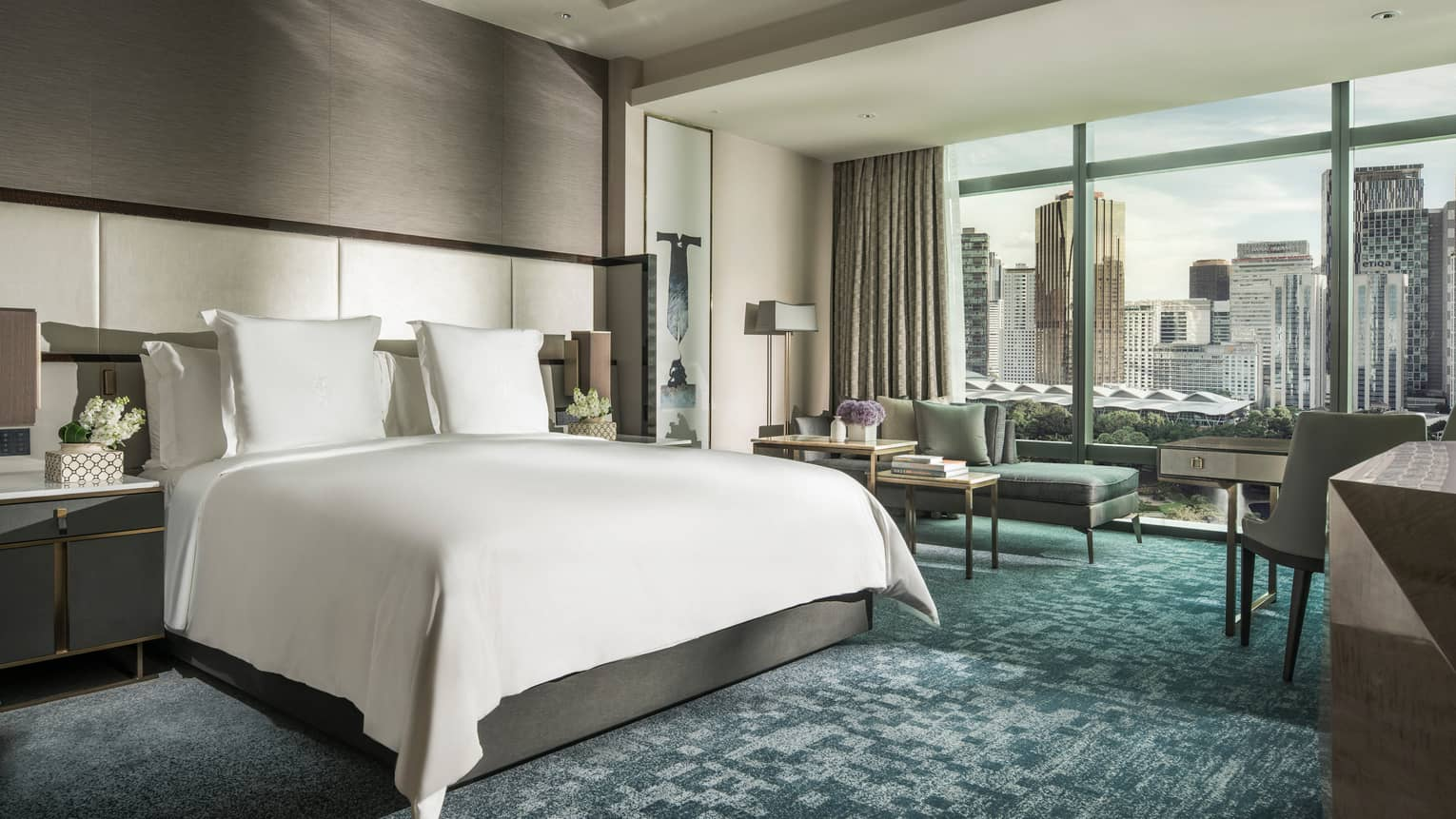 Deluxe King Park-View Room with skyline beyond the window