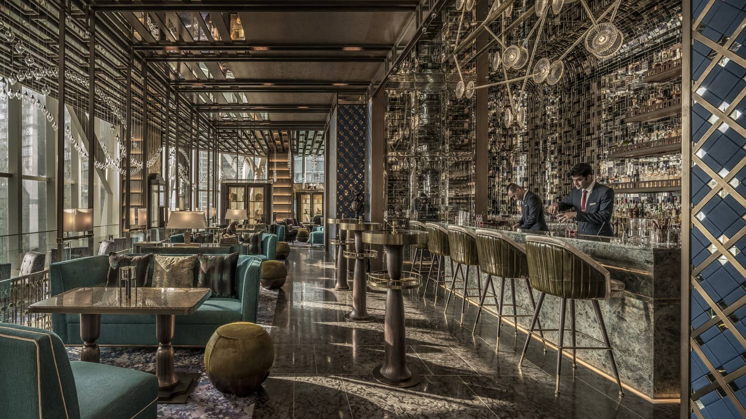 Bar Trigona's bartender makes a drink