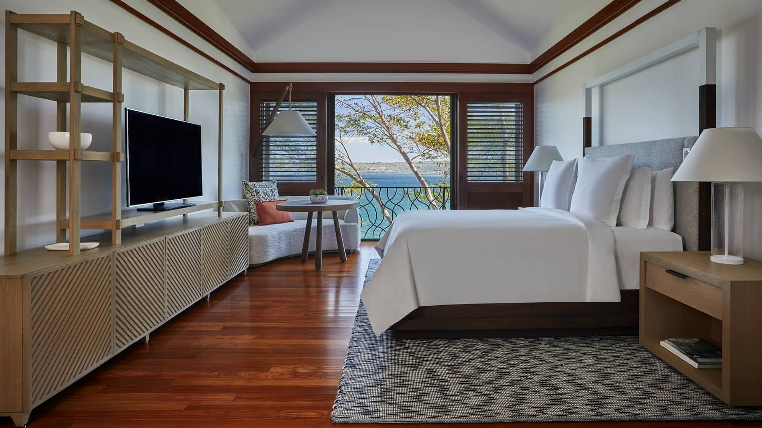 Canopy Suite Master Bedroom with Open Door Views of the Ocean