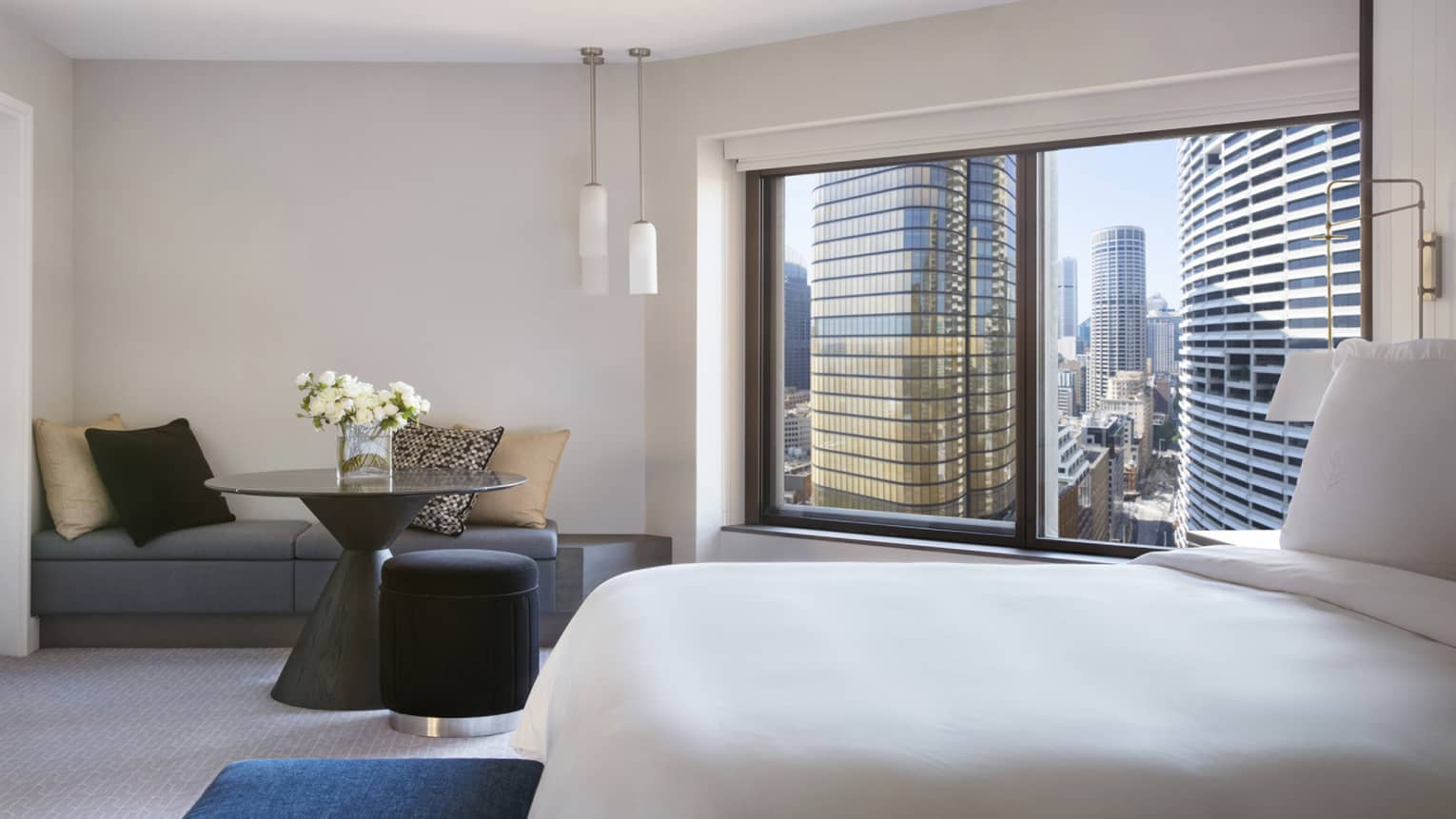 Premier City Rooms at Four Seasons Hotel Sydney feature sleek interiors and city views
