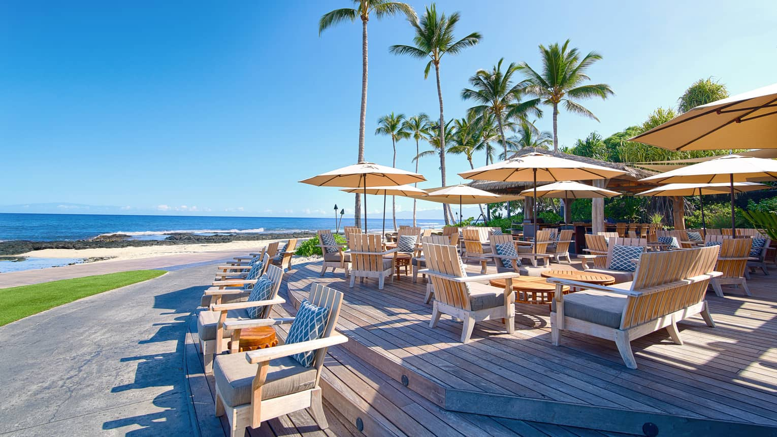 The Beach Tree Bar on a sunny day