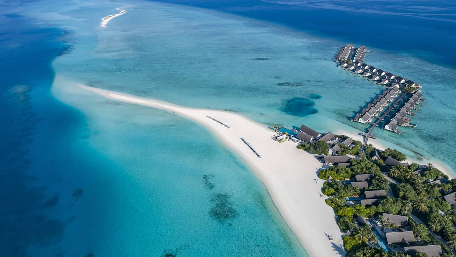 Aerial view of Four Seasons Resort Maldives at Landaa Giraavaru