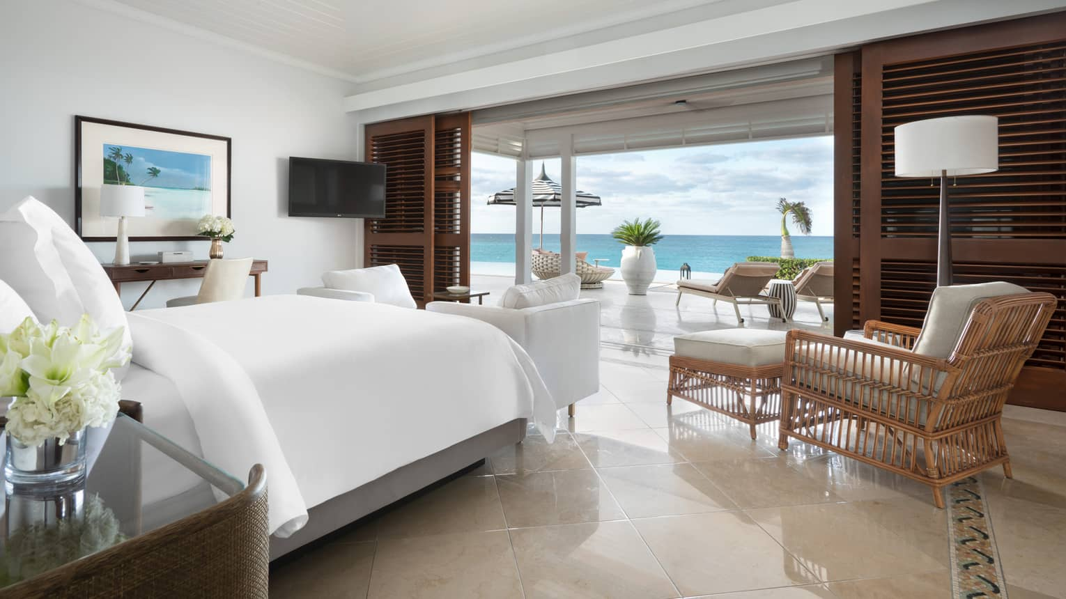 Beachfront Villa Residence Master Bedroom overlooking the ocean