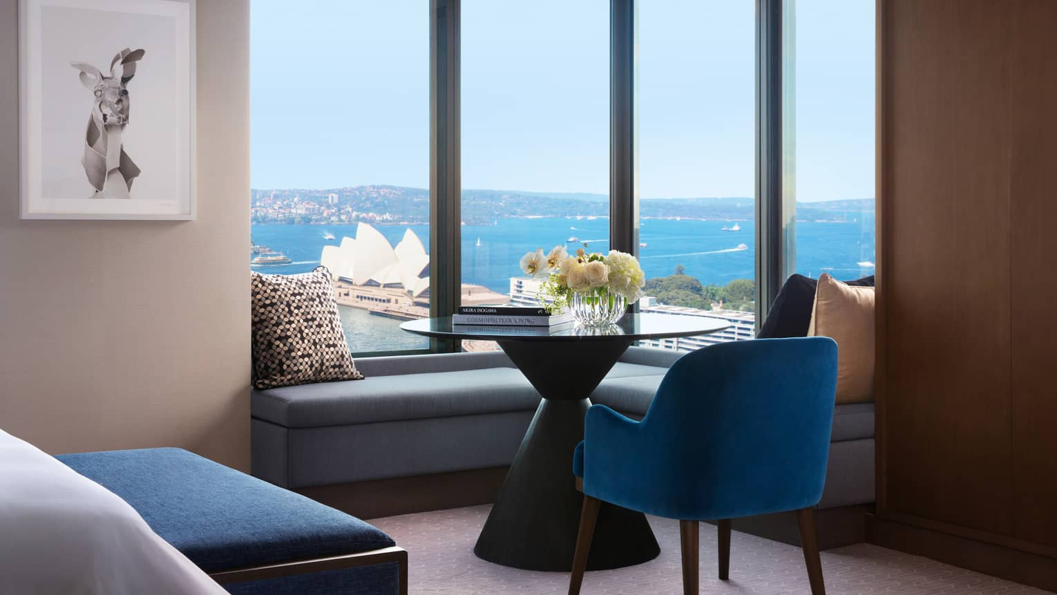 View of the Sydney Opera House from a Four Seasons Full Harbour Room