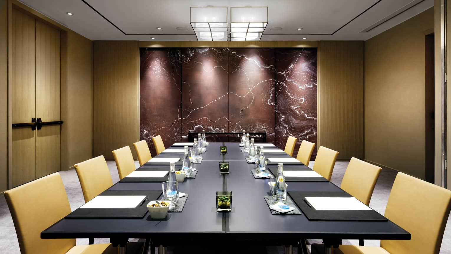 Northland Meeting Room large boardroom table with modern tan chairs
