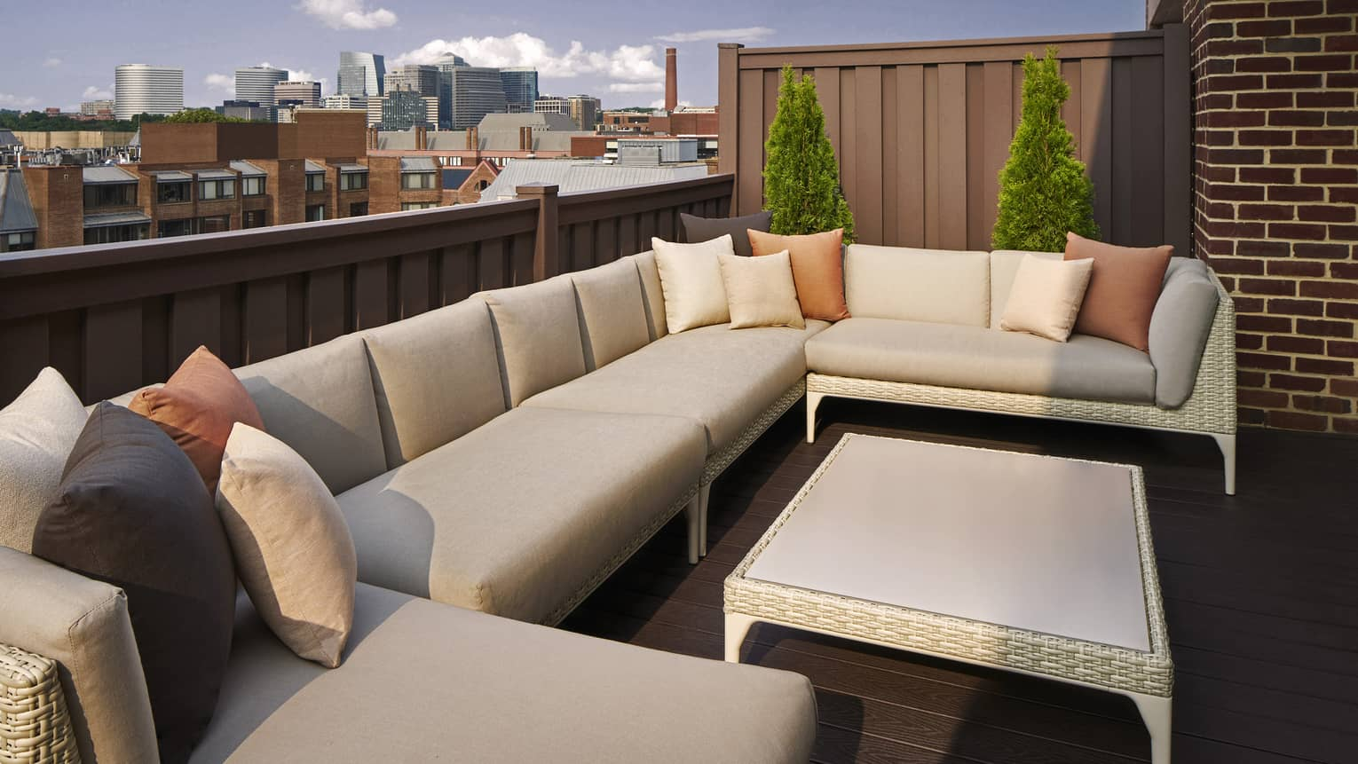 Expansive terrace with lounge seating