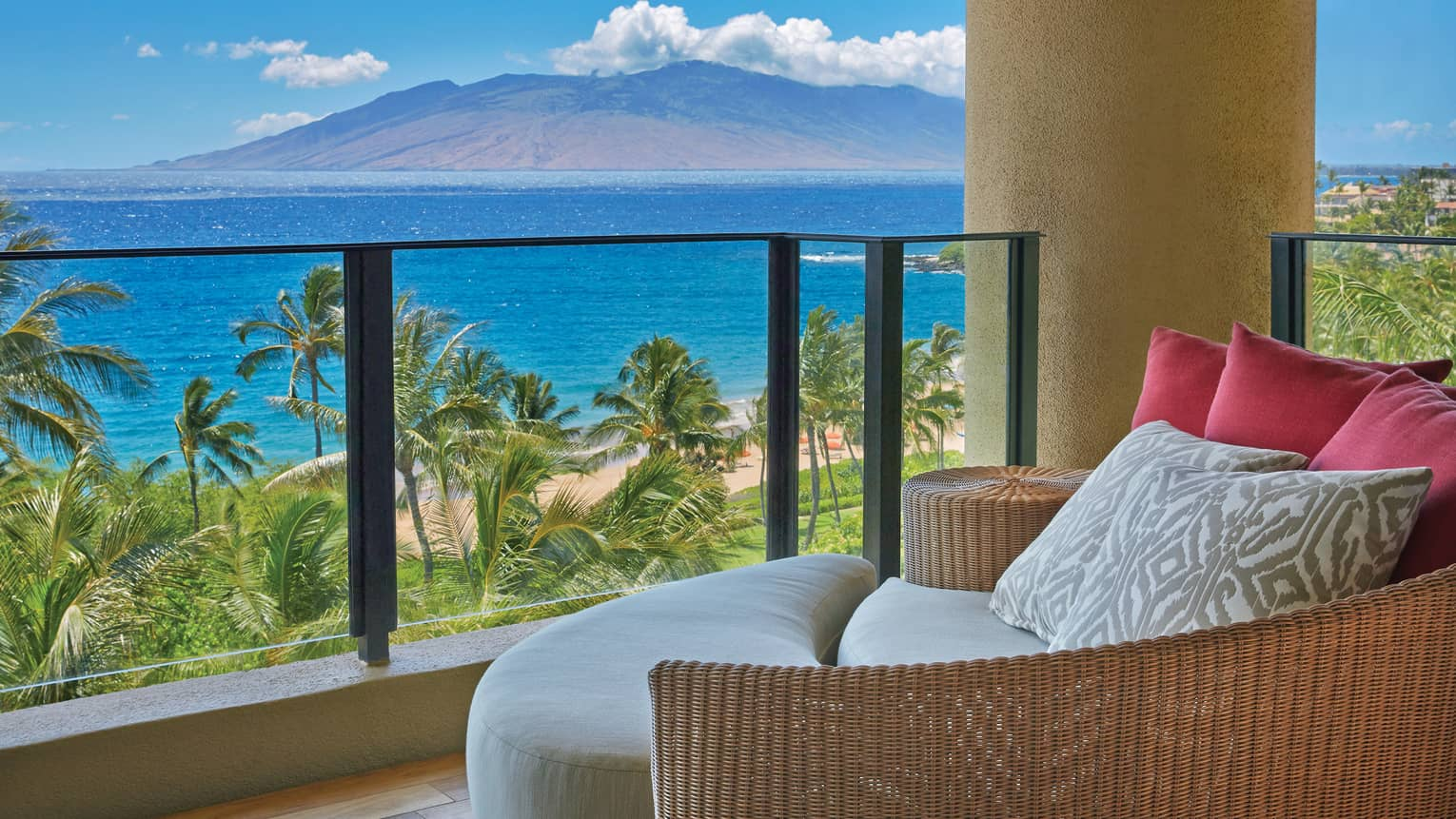 Maile Suite private terrace overlooking the ocean and the mountains