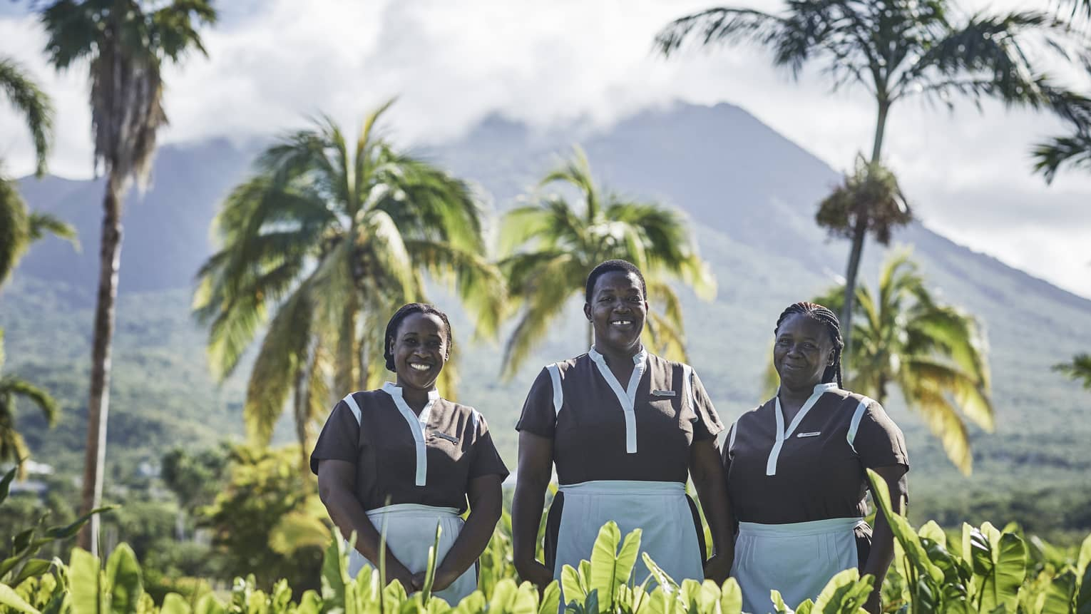 Staff of Four Seasons Resort Nevis