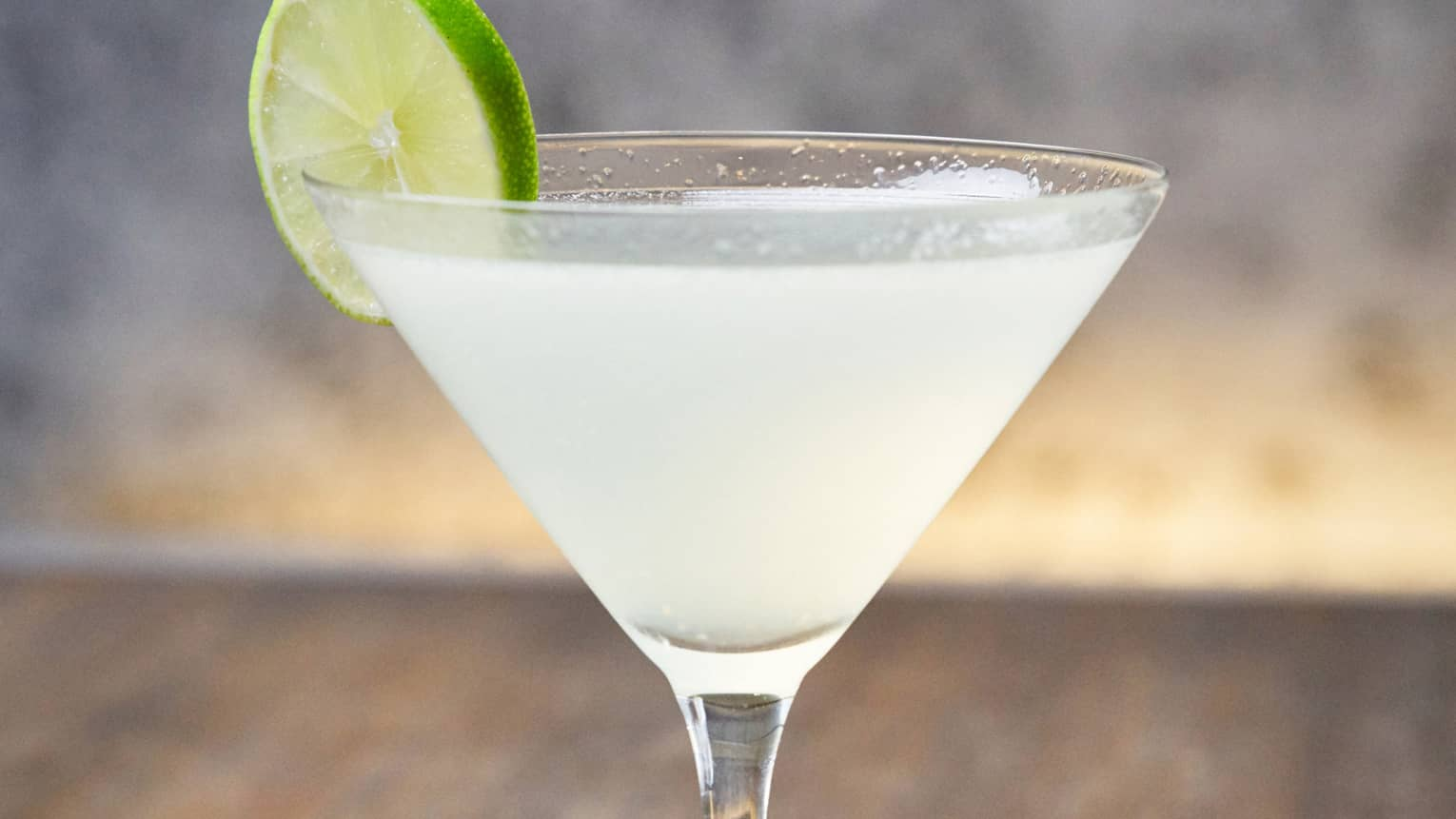 Hemingway Daiquiri martini with lime wheel garnish
