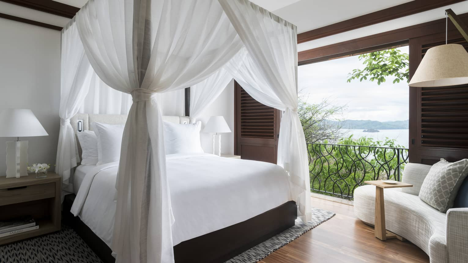 Canopy Bed with Open Door View