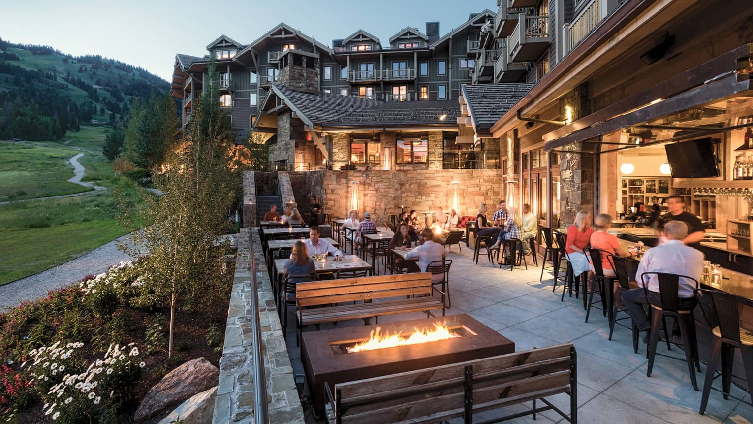 Westbank Grill at Four Seasons Jackson Hole Has Great Views