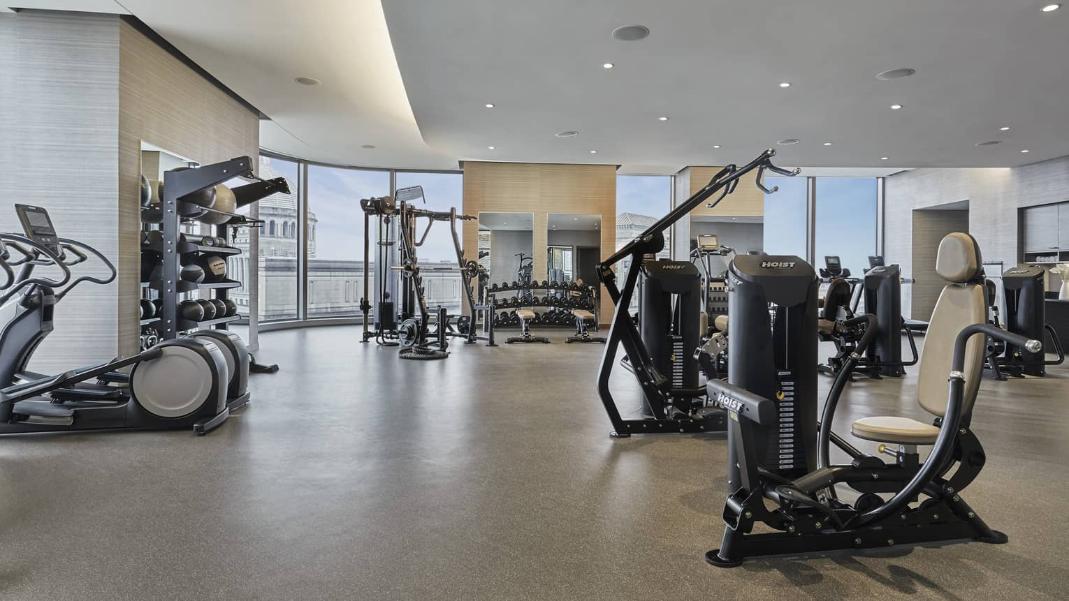 The fitness center at four seasons hotel boston one dalton