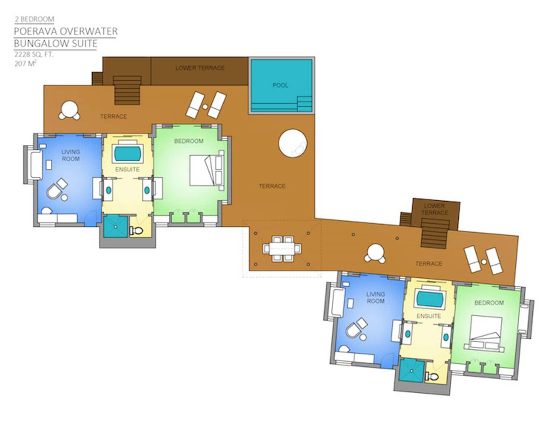 Two Bedroom Poerava Overwater Bungalow Suite
