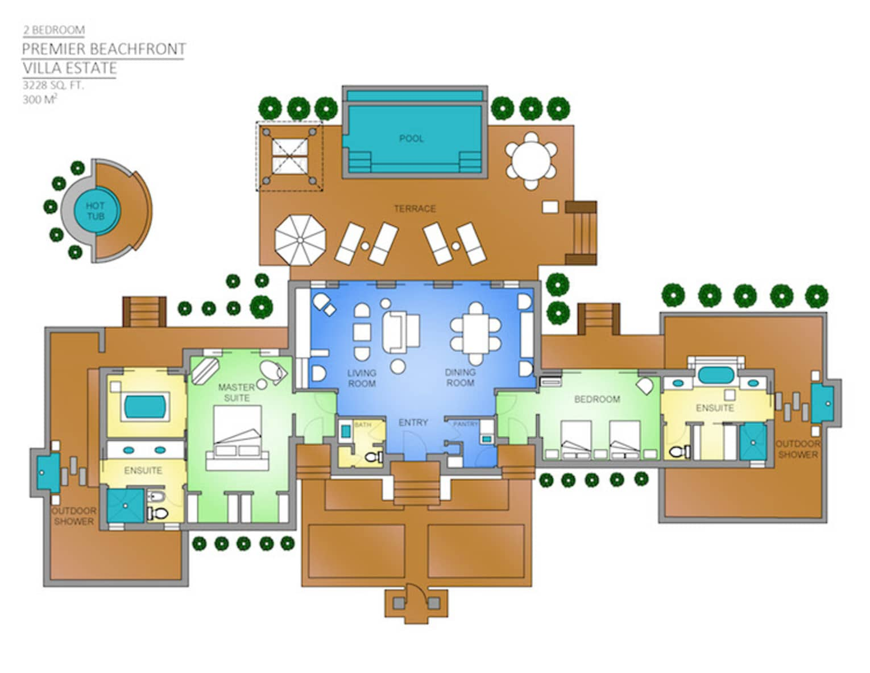 Bora Bora Two-Bedroom Premier Beachfront Villa Estate ...
