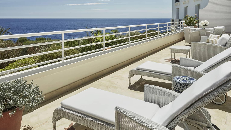 Kamer En Suite Rails.Sea View Hotel Suite Grand Hotel Du Cap Ferrat Four Seasons