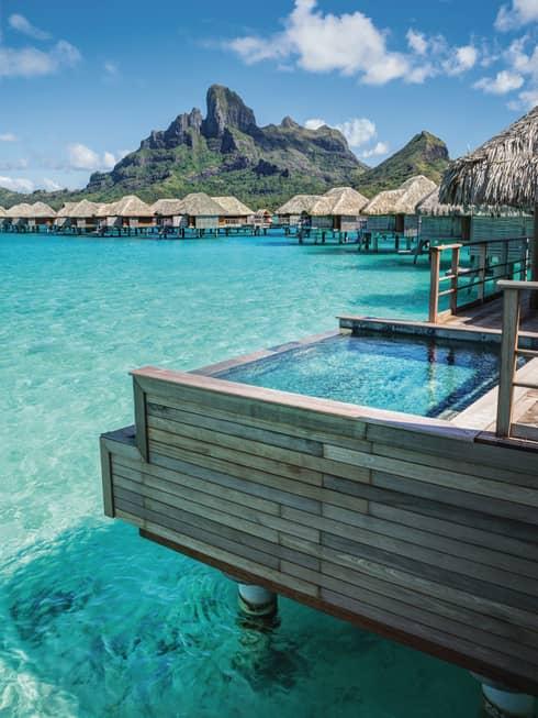 Overwater Bungalows Bora Bora Huts Amp Villas Four