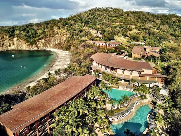 Aerial View Of Four Seasons Hotel Costa Rica At Peninsula Papao Building Resort By Sand