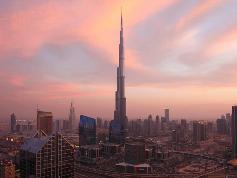 See a sunset from the world's tallest building