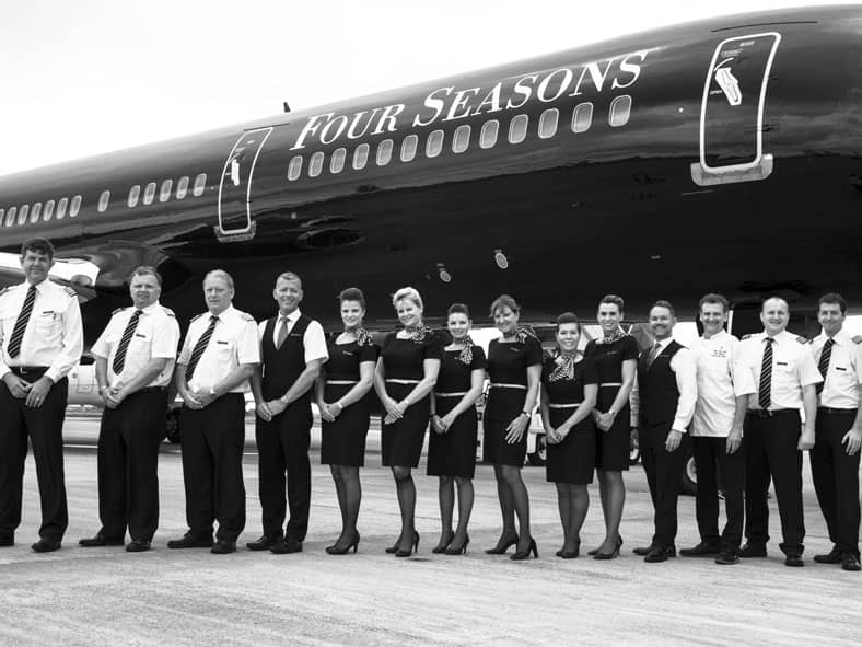 Four Seasons Private Jet crew