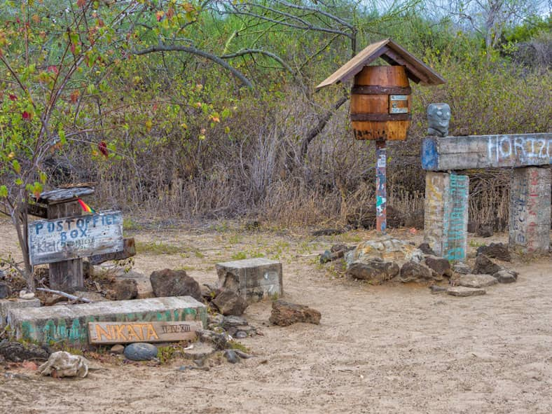 Post Office Bay in the Galapagos Islands