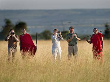 Walk the Serengeti with a Masai guide
