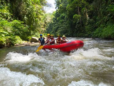 Go rafting on the Ayung River