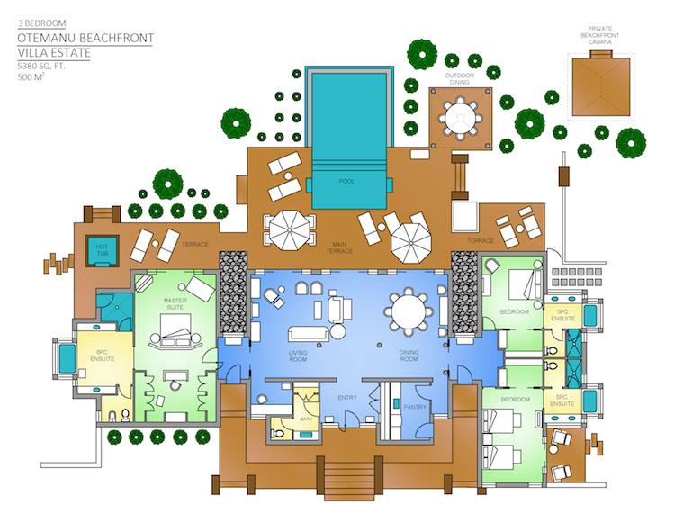 bora bora beachfront villa | three-bedroom | four seasons resort