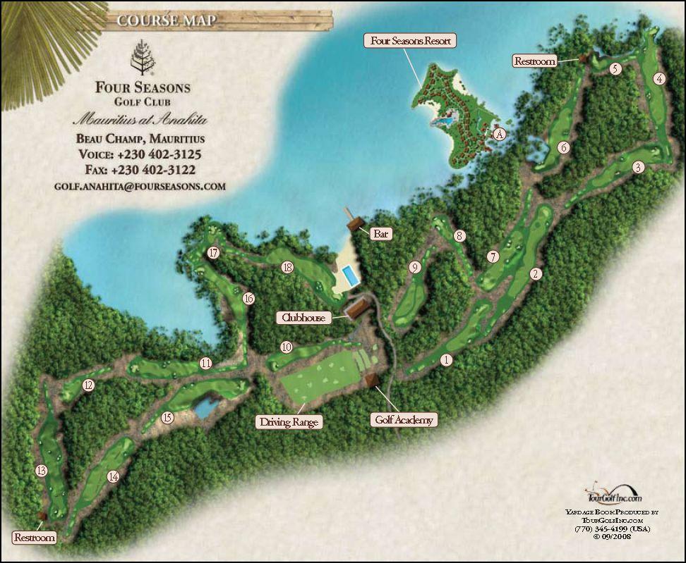 Mauritius golf course map four seasons resort mauritius for Pool design course