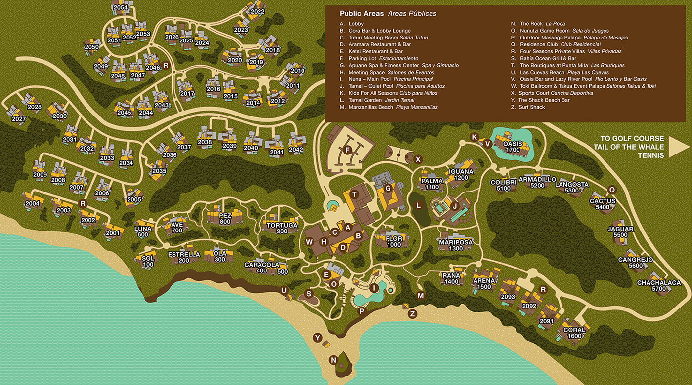 Punta Mita Resort Map